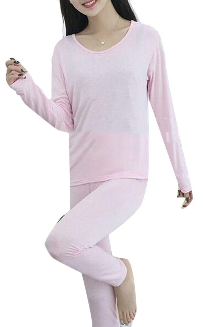 X-Future Women Thermal Underwear 2 Pc Top with Pants Pink US 2XL by X-Future
