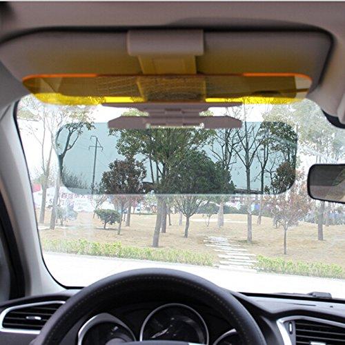 2 in 1 Car Sun Visor Mirror Day and Night Glare Mirror UV Fold Flip Down HD Clear View Visor Auto Glasses Driver Night Vision Goggles for Day /& Night Driving