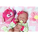"""Cute Baby Girl Realistic Anatomically Correct Preemie Berenguer Newborn Reborn 14"""" Inches Doll Beautiful Extra Accessories Alive Vinyl Silicone"""