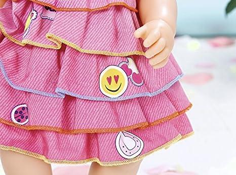 bunt Zapf Creation 824481 Baby Born Sommerkleid Set mit Pins Kleidung & Accessoires Babypuppen & Zubehör