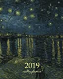 2019 Weekly Planner: Calendar Schedule Organizer Appointment Journal Notebook To do list and Action day 8 x 10 inch art design, Starry Night Over the ... (Weekly & Monthly Planner 2019) (Volume 16)