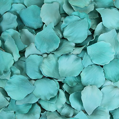 Blue Silk Rose Petals (Koyal Wholesale 200-Pack Silk Rose Petals, Diamond Blue)