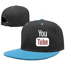 AAWODE Kid's Funny Youtube Plain Adjustable Snapback Hats Caps