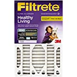 Filtrete Healthy Living Ultra Allergen Deep Pleat AC Furnace Air Filter, MPR 1500, 20-Inch x 25-Inch x 5-Inch (4-7/8-Inch Depth)