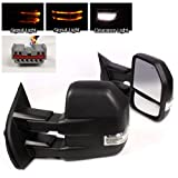 ModifyStreet Extendable Towing Mirrors with Heated Defrost & LED Turn Signal Light for 2008-2015 Ford F250/F350/F450/F550 Super Duty - 1 Pair