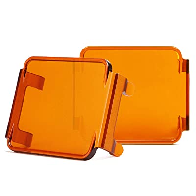 Swatow Industries 3 Inch Amber LED Pod Covers 2PCS Square LED Light Bar Covers LED Cube Covers Protective Polycarbonate Light Bar Lens Covers: Automotive [5Bkhe0801603]