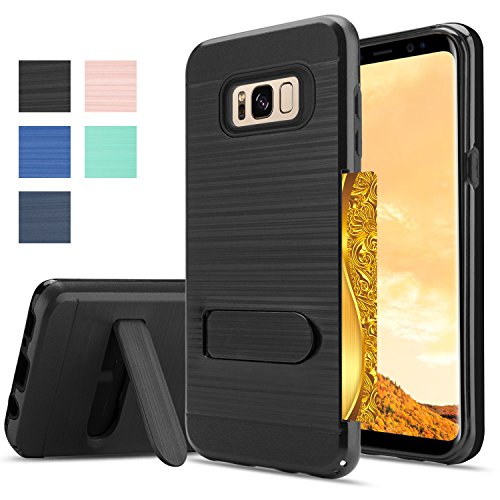 Samsung Galaxy S8Plus Case,Samsung S8 Plus Case,AnoKe [Card Slots Wallet Holder] Kickstand Hard Plastic PC TPU Soft Hybrid Shockproof Heavy Duty Protective Case Cover for Samsung S8+ KC1 New