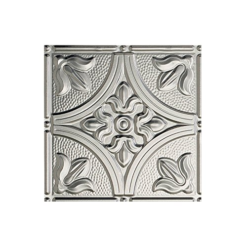 - FASÄDE Easy Installation Traditional Style/Pattern #2 Brushed Aluminum Glue Up Ceiling Tile/Ceiling Panel (12X12 Inch Sample)