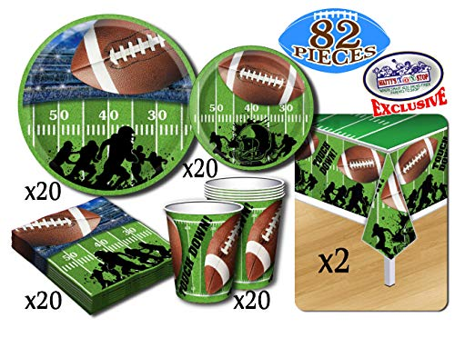 Football Birthday Decorations - Deluxe Football Theme Party Supplies Pack