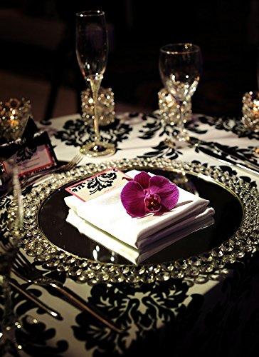 Feyarl Crystal Mirrored Jewelry Tray Cosmetic Organizer Vanity Tray Decorative Tray (Silver) by Feyarl (Image #9)