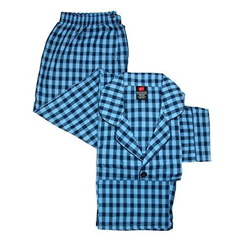 (Hanes Men's Broadcloth Long Sleeve Pajama Set, Large, New Black)