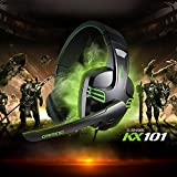 Gaming-Headset-FociPow-KX-101-Salar-Series-Gaming-Headphone-With-Microphone-for-PC-Over-Ear-Headphones-Noise-CancellingBlackGreen