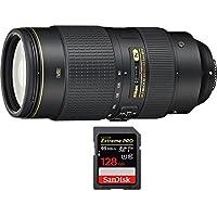 Nikon AF-S NIKKOR 80-400mm f.4.5-5.6G ED VR Lens (2208) with Sandisk Extreme PRO SDXC 128GB UHS-1 Memory Card