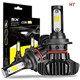 LED Headlight Bulbs, DJI 4X4 H7 All-in-One Conversion Kit CREE Chips 10000lm 6000K Cool White Low Beam Fog light Bulbs Super Bright, 1 Yr Warranty(2 pack)