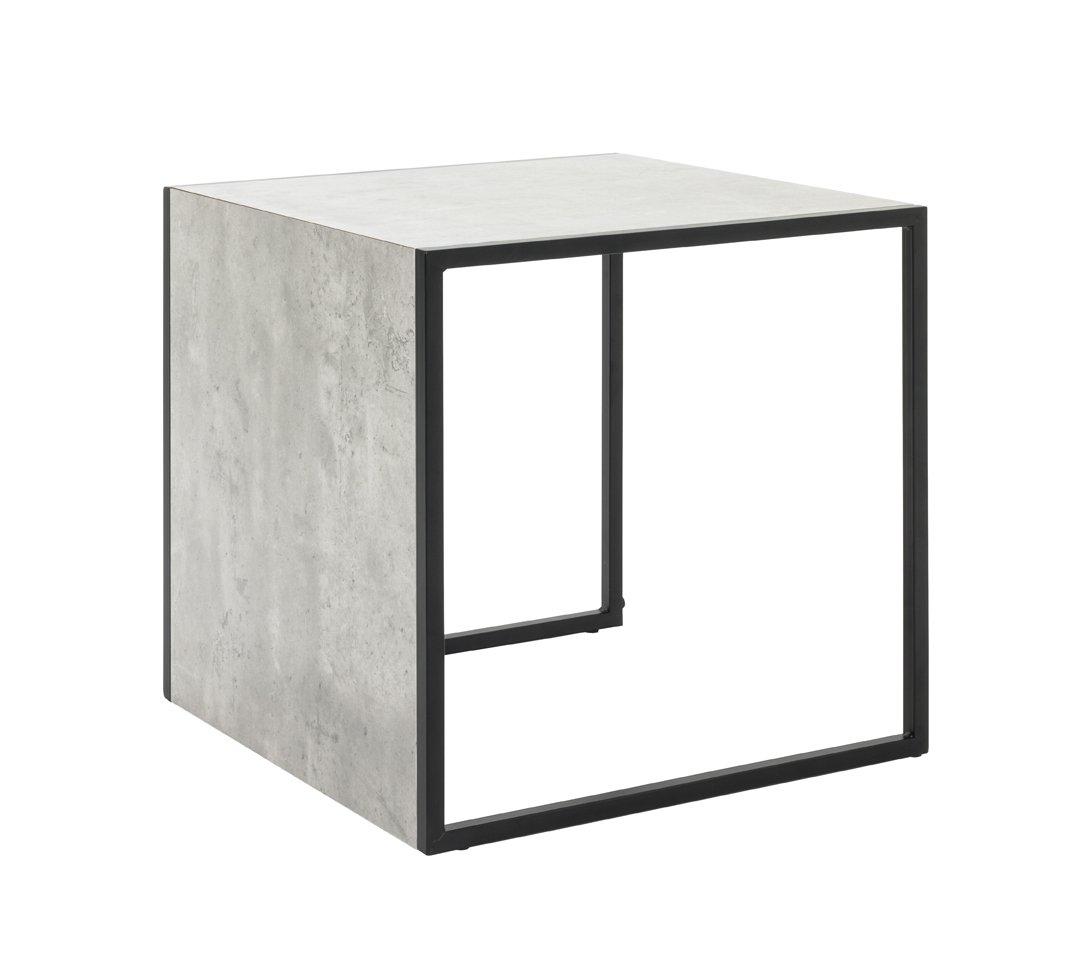 Haku mobili tavolino, Metallo, Nero/Cemento Ottica, 45 x 45 x 45 cm 45x 45x 45cm unknown 14649