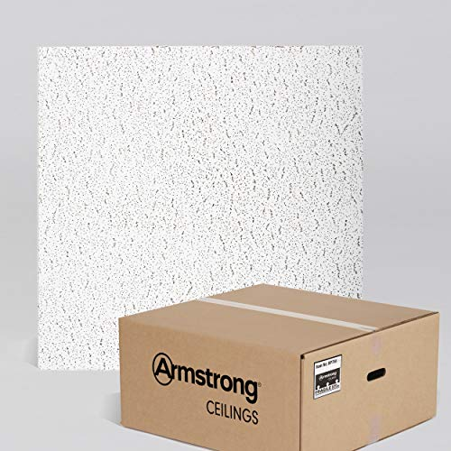 Armstrong Ceiling Tiles; 2x2 Ceiling Tiles - Acoustic Ceilings for Suspended Ceiling Grid; Drop Ceiling Tiles Direct from the Manufacturer; FISSURED Item 756 - 16 pcs White - Manufacturers Ceiling Tile