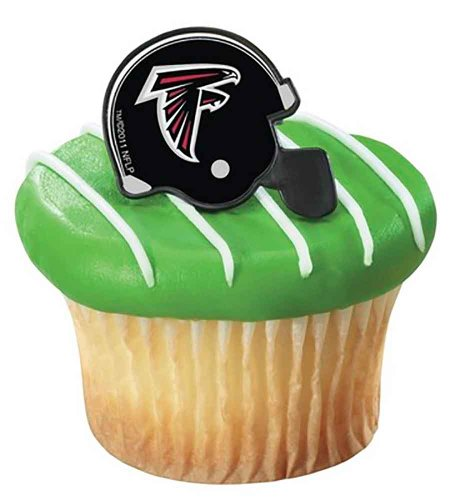 NFL Atlanta Falcons Cupcake Helmet Rings 12 count