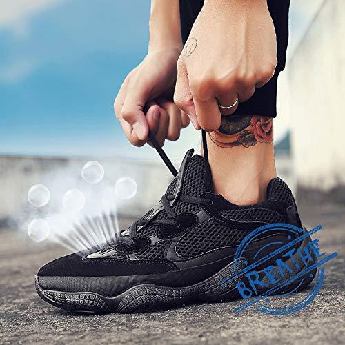 Homme REBEST Baskets pour Mode Noir FwYtPqYrA