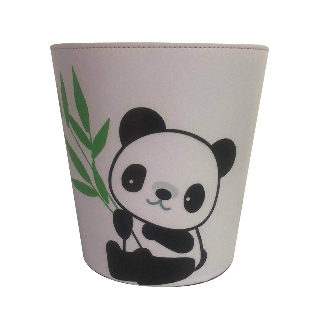 XSHION Trash Can,2.6 Gallon/10L Garbage Can Panda Pattern Leather Waterproof Wastebasket for Home - Type A