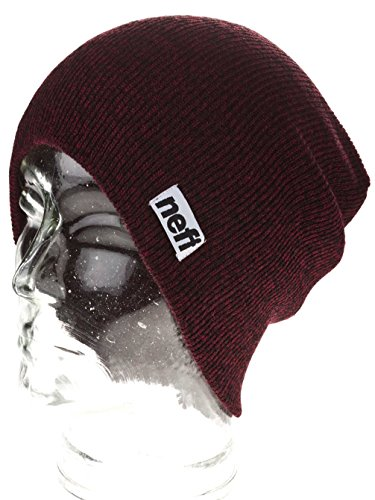 maroon Neff marrón black Unisex Heather Optic Beanie Gorros Adulto xgTq0wgS