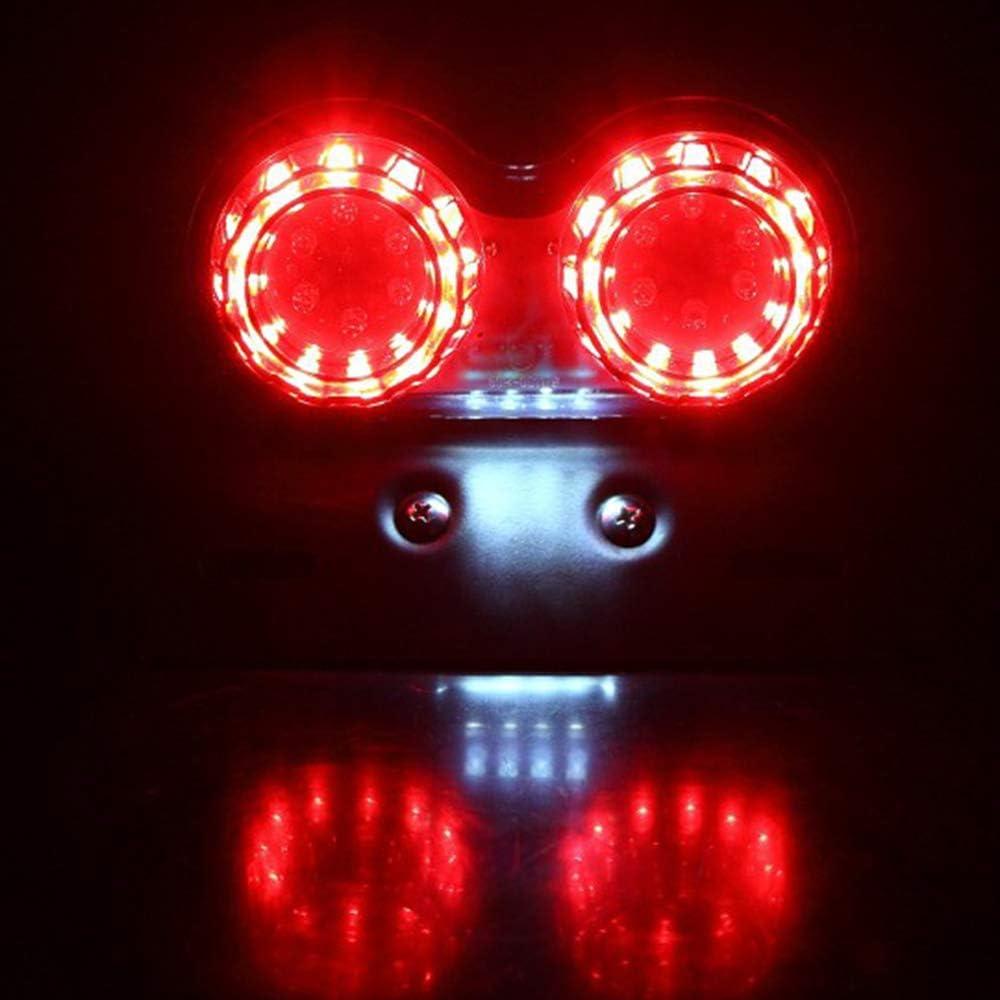 Elektrofahrzeuge. ATVs R/ücklicht Bremslicht LED f/ür Motorr/äder Motorrad R/ücklicht Kennzeichenleuchte IWILCS R/ücklicht Motorrad Bremsleuchte SUVs