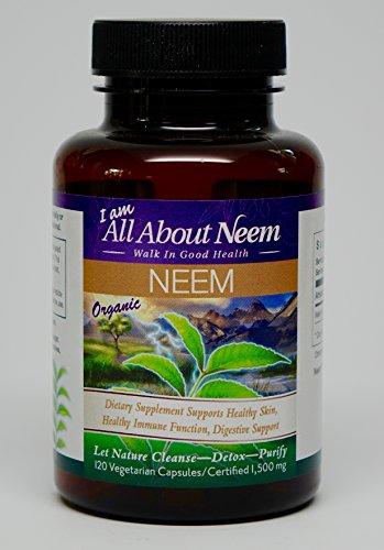 Neem Leaf Capsules  Organic Fresh Ground Powder 1 500Mg   120Ct   All Natural Pure Triple Strength Vegetarian  Vegan Made In Usa   Body Detox And Energy Booster   Kosher