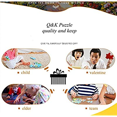 Q&K Wooden Puzzles for Adults 500 Pieces Cat Party Adults Classic Art Collection Creative Toys Colorful Puzzle Game: Toys & Games