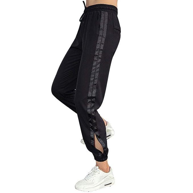 SIMPLE-K Pantalones de Sudadera con Abertura Lateral ...