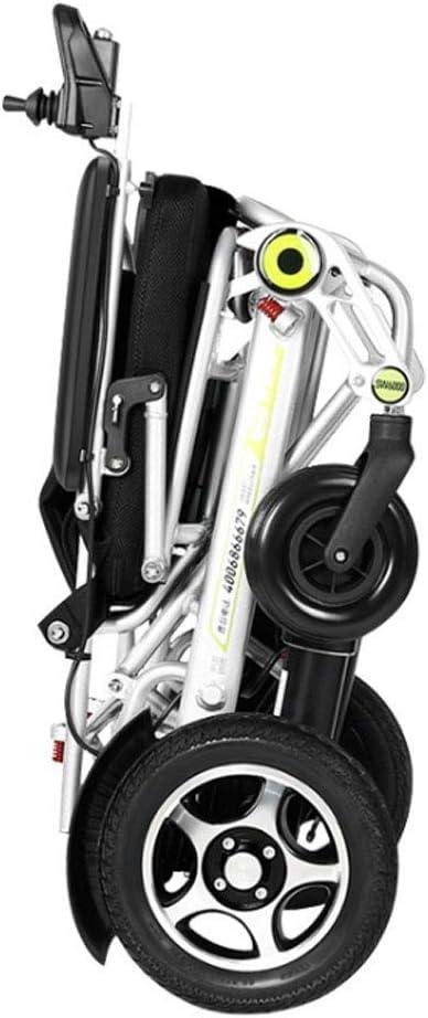 FTFTO Inicio Accesorios Silla de Ruedas eléctrica para Ancianos discapacitados Patinete automático Inteligente para Ancianos discapacitados Silla de Ruedas Plegable Ligera de aleación de Aluminio