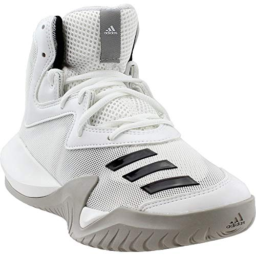 adidas Crazy Team 2017 Shoe Mens Basketball 9.5 White-Core Black-Solid Grey