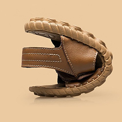 da Sandali Pelle Estate in Uomo da Semplice Moda Casual Scarpe Uomo Brown Scarpe gIdqBI