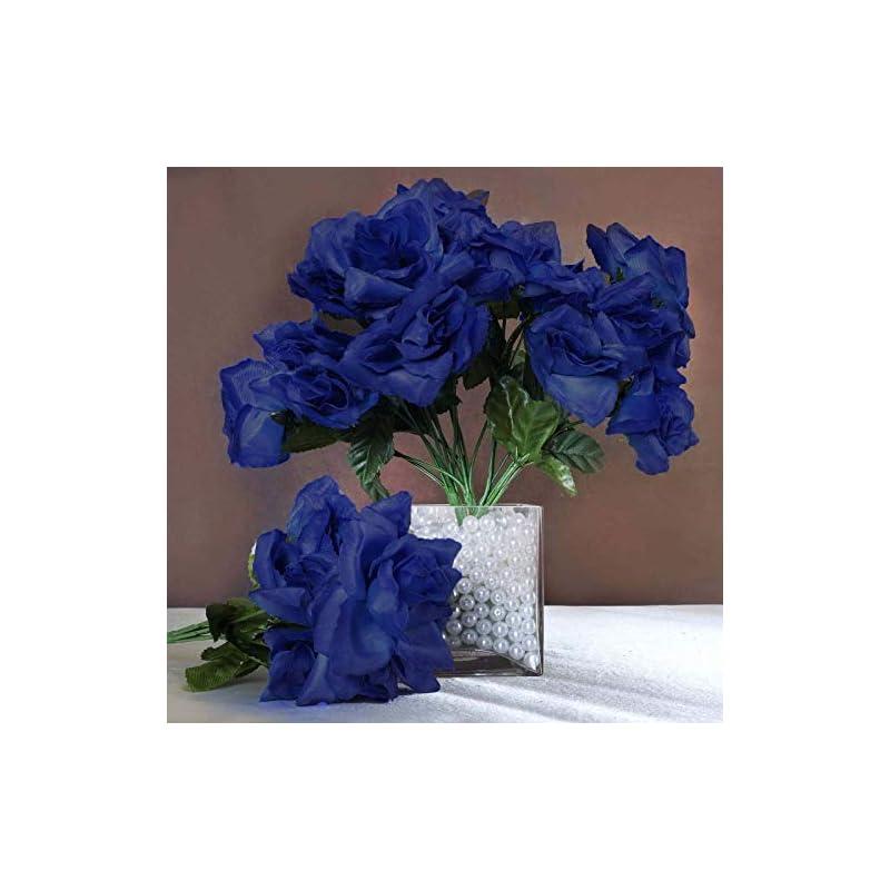 silk flower arrangements efavormart 84 artificial open roses for diy wedding bouquets centerpieces arrangements party home wholesale supplies - royal blue