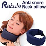 Anti Snore Neck Pillow, Chin Strap, Stop Snoring, Anti Snoring Jaw Strap (Large, Navy)