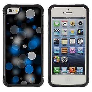 Paccase / Suave TPU GEL Caso Carcasa de Protección Funda para - Dots Spots Art Pattern Wallpaper Blue Grey Black - Apple Iphone 5 / 5S