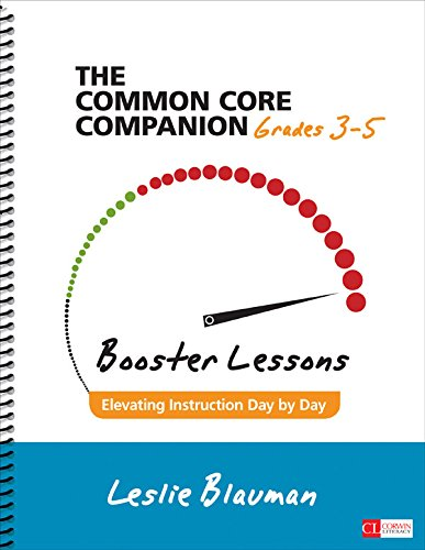 Download The Common Core Companion: Booster Lessons, Grades 3-5: Elevating Instruction Day by Day (Corwin Literacy) Pdf