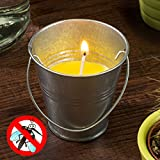 qtimber Citronella Kerze im Eimer 6.5 x 6.5 x 6.5 cm lampada anti zanzare, candela insetticida
