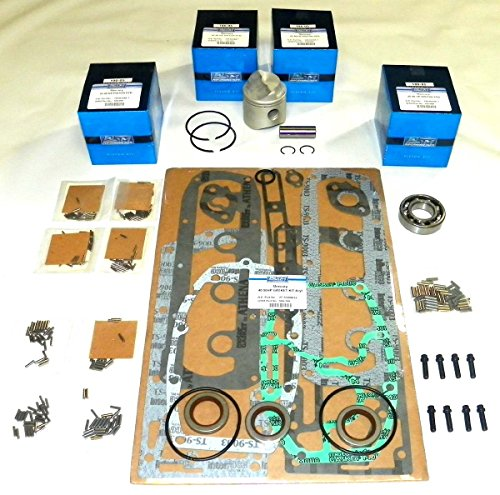 Power Head Bearing (Mercury 40 Hp 1990-1997, 45 Hp 1986-1989, 50 Hp 1970-1985 4 Cylinder Power Head Rebuild Kit PWC 100-05-10 Piston OEM# 743-5172A, 743-5172A6, 780-9229A (STD (2.565