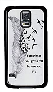 Sometimes You Gotta Fall Before You Fly Characteristic Quote For Case Samsung Galaxy S3 I9300 Cover
