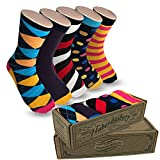 Men's Socks Hipster Power Socks 5 Pairs of Sox Per Box Mens Socks Fun Blue Steel