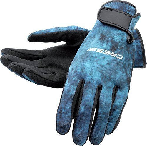 (Cressi Tropical 2mm gloves, blue hunter, L)