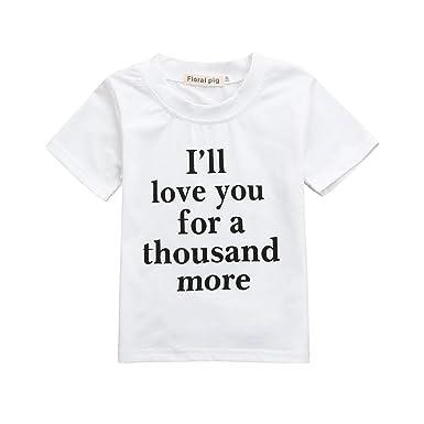 6867d30fe3837 Vêtements Bebe Ete Oyedens Enfants Garçons Filles T-Shirts Garçon 6 Mois à 5  Ans