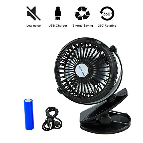 clip fan mini desk battery operated small personal strong wind usb powered 360 ebay. Black Bedroom Furniture Sets. Home Design Ideas
