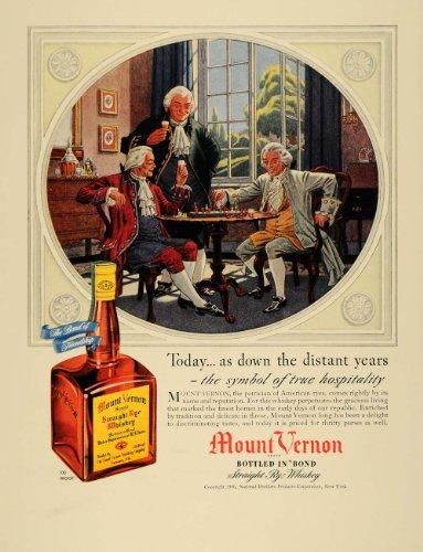 Straight Rye Whiskey (1940 Ad Mount Vernon Straight Rye Whiskey Alcohol - Original Print Ad)