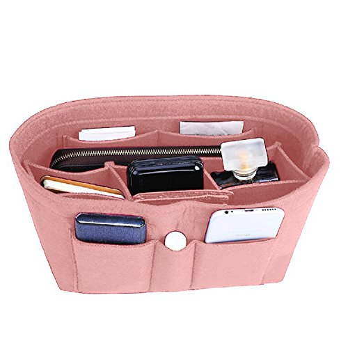 Felt Insert Bag Organizer Bag In Bag For Handbag Purse Organizer, Six Color Three Size Medium Large X-Large (Medium, Light Pink)