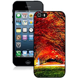 Nature Red Trees Road Durable High Quality iPhone 5S Phone Case