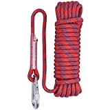 Aoneky 10 mm Static Outdoor Rock Climbing Rope, Fire Escape Safety Survival Rope (Red 1, 98)