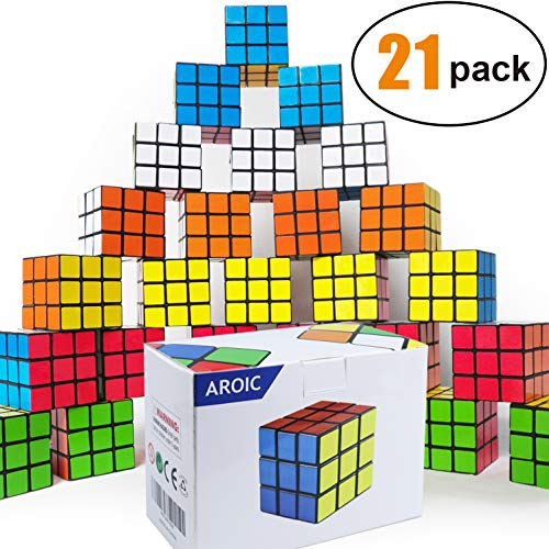 rty Toy, Eco-Friendly Material with Vivid Colors,Party Favor School Supplies Puzzle Game Set for Boy Girl Kid Child, Magic Cube Goody Bag Filler Birthday Gift Giveaway ()