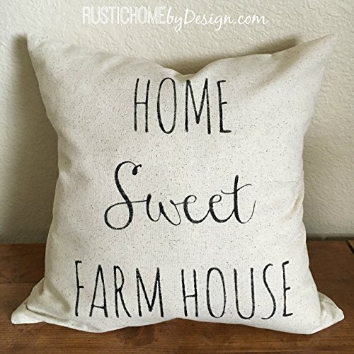Home Sweet Farm House | Rustic Pillow Cover | Farmhouse Pillow | Multiple Sizes Available | Custom Pillow Cover | Made To Order