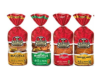 Canyon Bakehouse Gluten Free Bread and Bagel Variety Pack