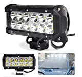 Aixia 1PC DC10-30V 12LED 7 inch Work Light Bar 36W Spot LED For SUV Offroad Driving